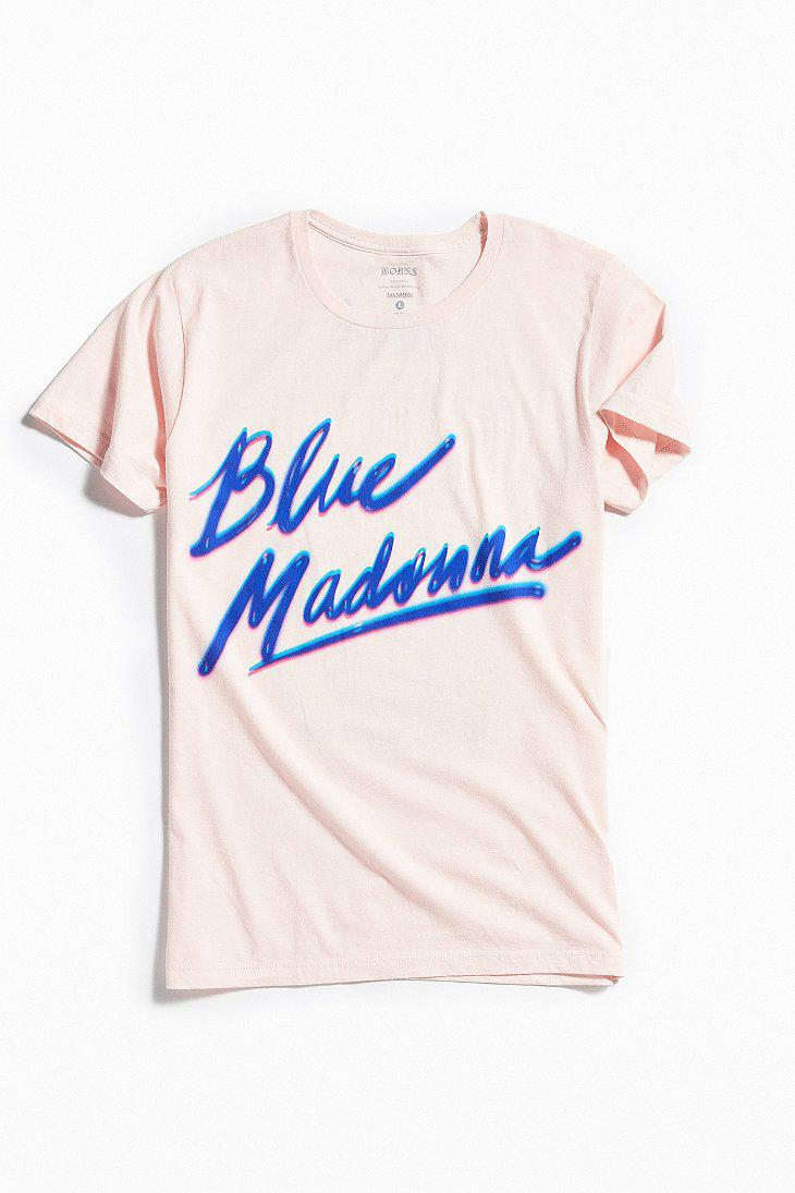 bf425b64 Urban Outfitters Børns Blue Madonna Airbrush Tee in Blue for Men - Lyst