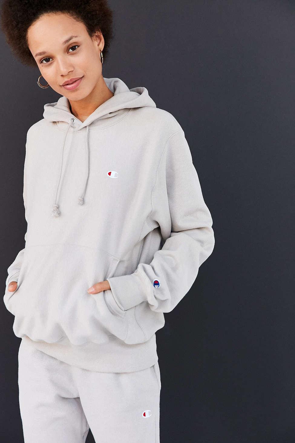 e4f523c3d301 Lyst - Champion + Uo Reverse Weave Hoodie Sweatshirt in Gray