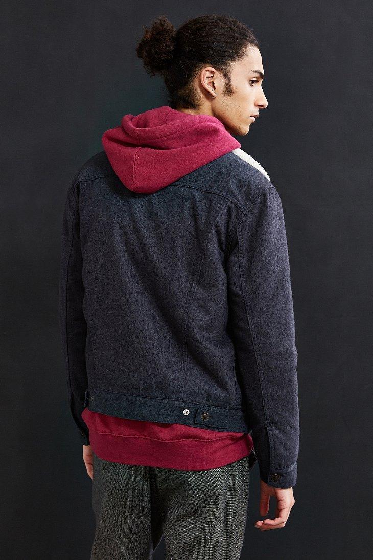 Lyst - Levi'S Flannel Sherpa Trucker Jacket in Blue for Men
