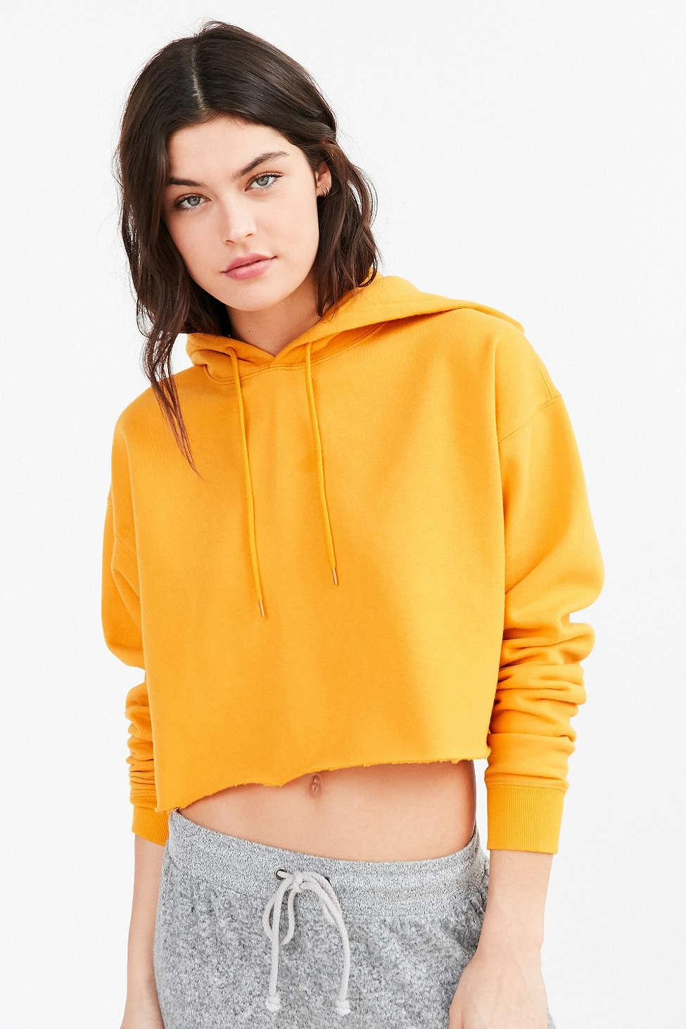 d923140bdec00 Lyst - Out From Under Cropped Hoodie Sweatshirt in Orange