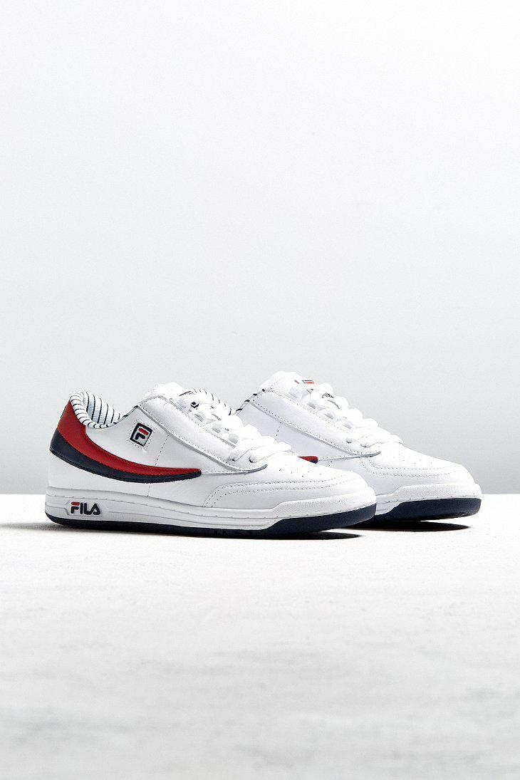 7d7b044c4caa Lyst - Fila Original Tennis Pinstripe Sneaker in White for Men