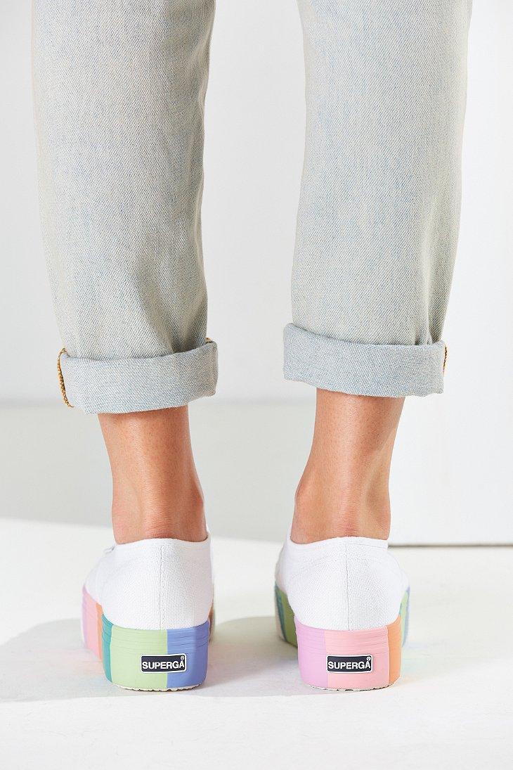 2aa336569929 Lyst - Superga Multicolor Platform Sneaker