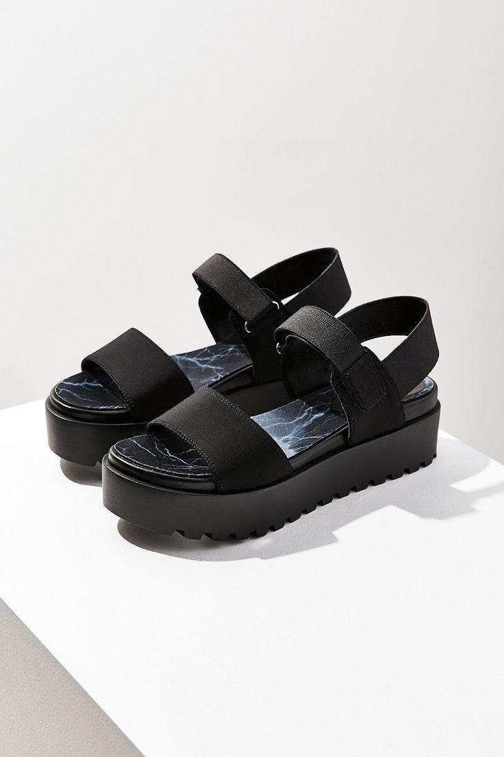 Urban Outfitters Scuba Platform Sandal In Black Lyst