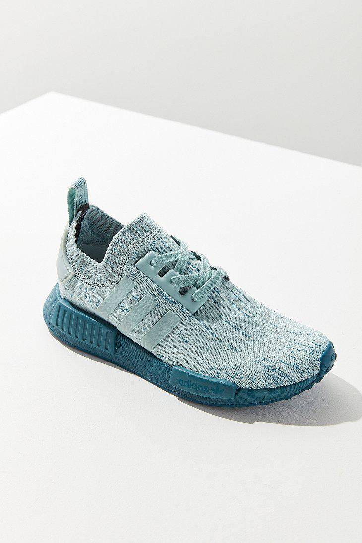 9cc1443bf16e Lyst - adidas Originals Originals Nmd R1 Primeknit Mint Sneaker in Blue