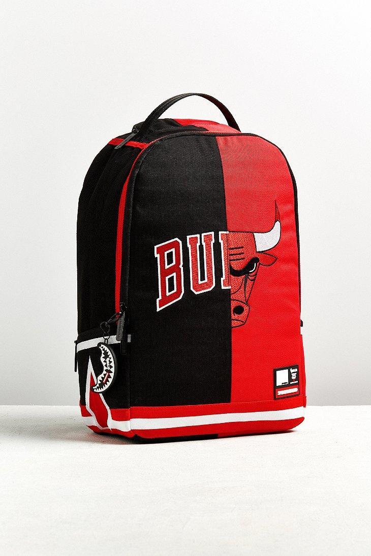 Lyst - Sprayground X Nba Chicago Bulls Split Backpack in Black for Men 6463345f57eb