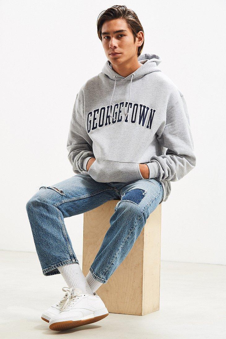 96d718c7371d Lyst - Champion Georgetown University Eco Fleece Hoodie Sweatshirt ...