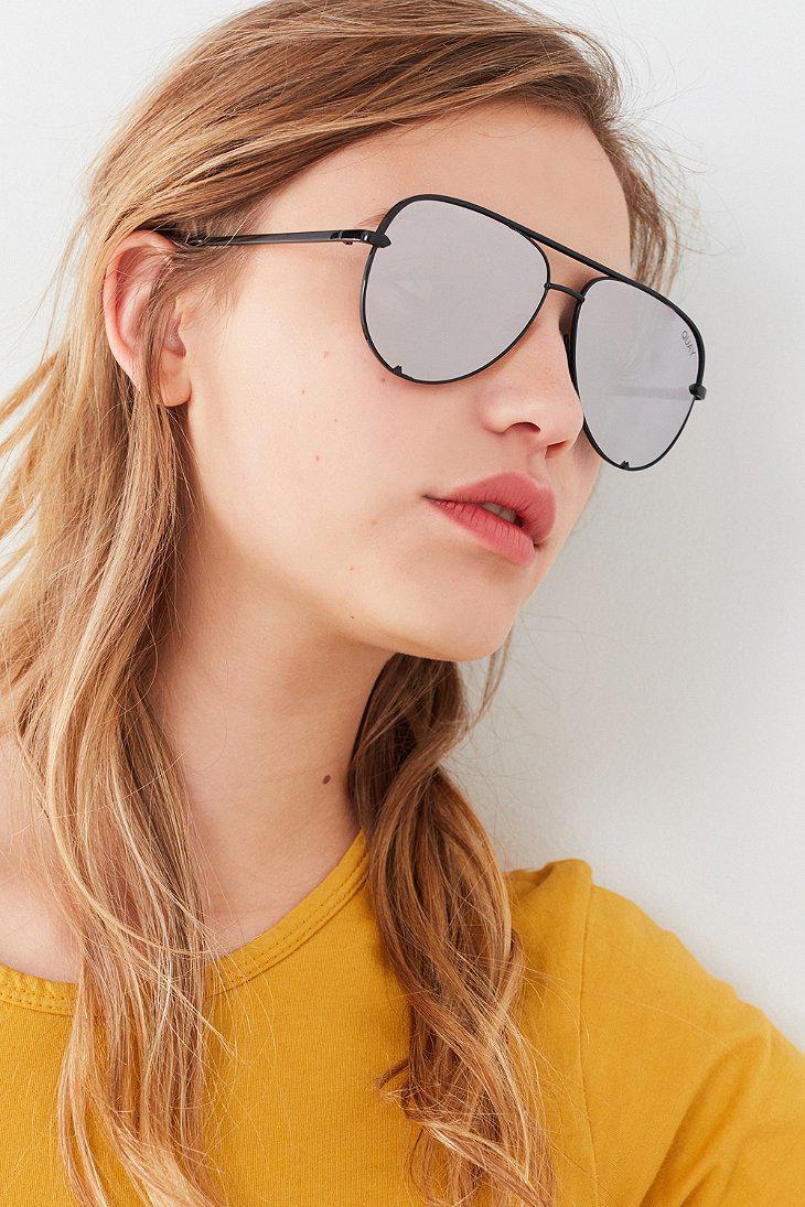 119018eecb8bf Quay X Desi Perkins High Key Aviator Sunglasses in Black for Men - Lyst