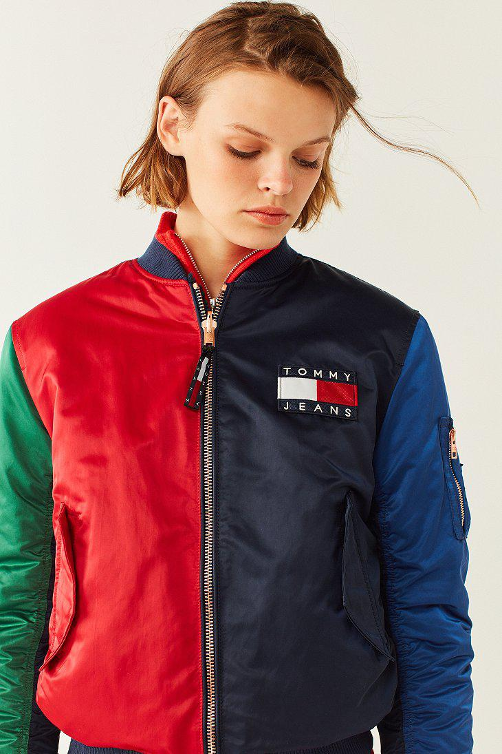 3f0f7a55 Tommy Hilfiger Tommy Jeans '90s Reversible Bomber Jacket in Blue - Lyst