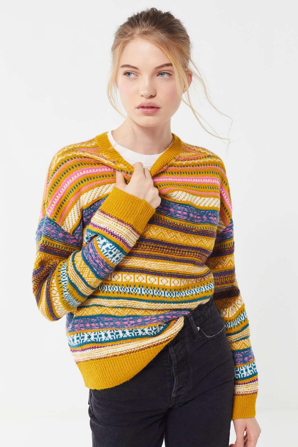 Urban Outfitters. Women s Uo Taxi Driver Patterned Pullover Sweater 0ac44edc0