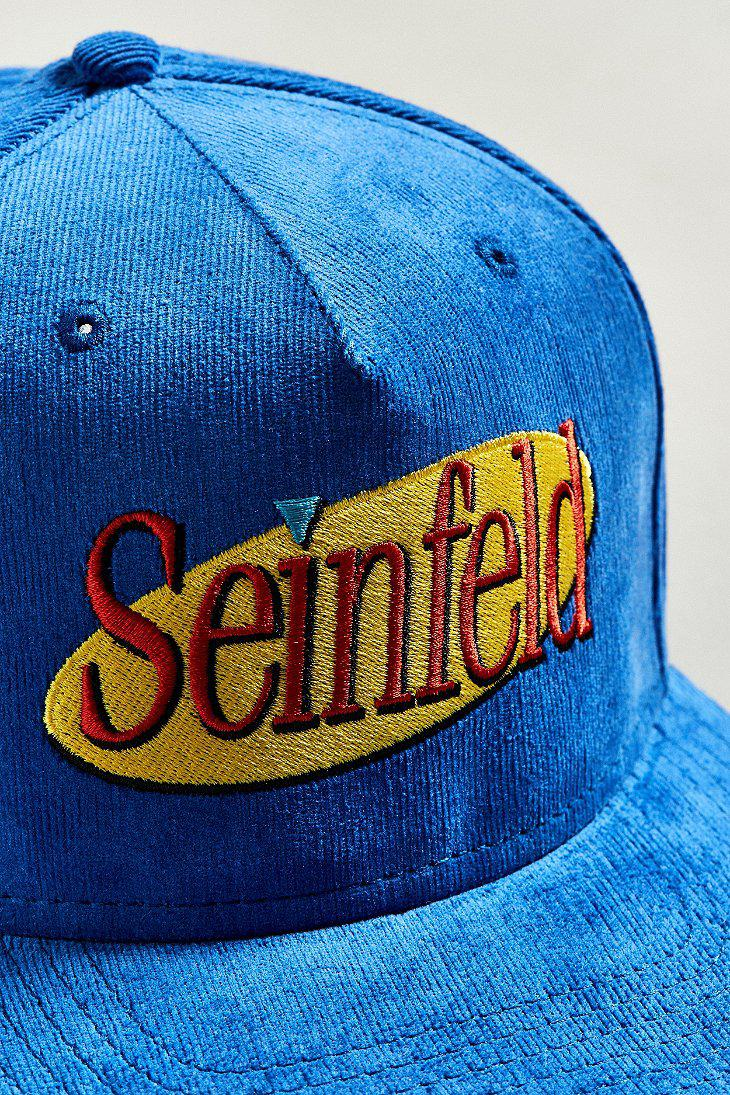 d7671f2123c Lyst - Urban Outfitters Seinfeld Corduroy Snapback Hat in Blue for Men