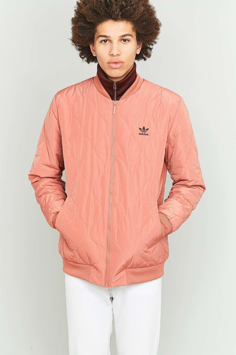 7bf9a69ae161 adidas Originals Ff Raw Pink Quilted Bomber Jacket in Pink for Men ...