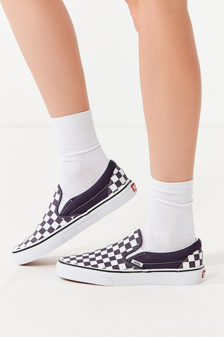 Lyst Vans Vans Classic Slip On Checkerboard Sneaker In