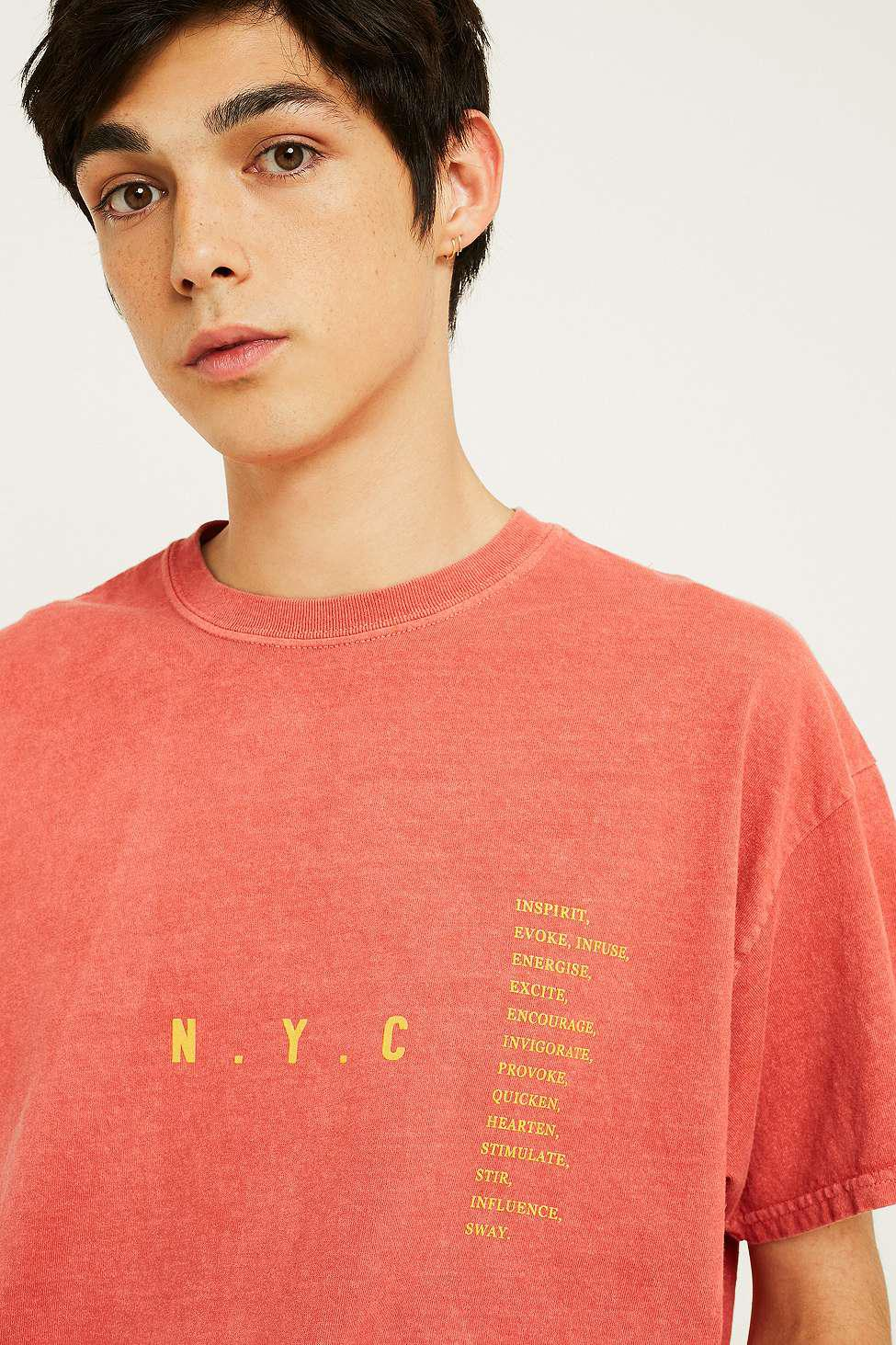 Urban Outfitters Uo Nyc Dictionary Red T-shirt - Mens Xs in Red for ... 39c49f6cbfc