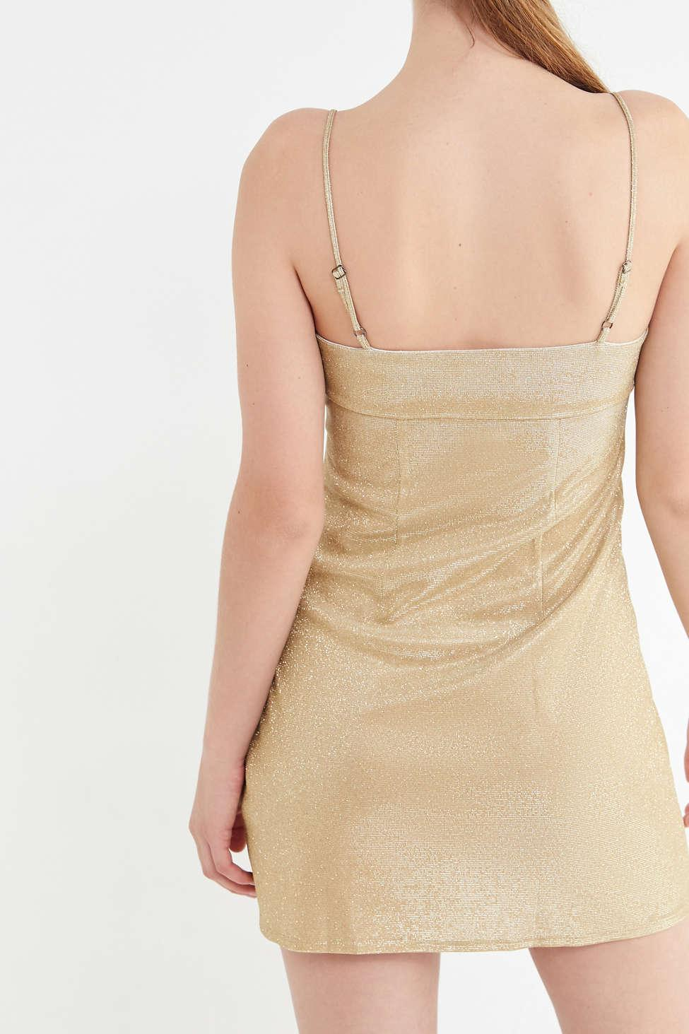 6e5b385202828 Urban Outfitters Uo Sparkly Moon Beam Empire Waist Mini Dress in ...