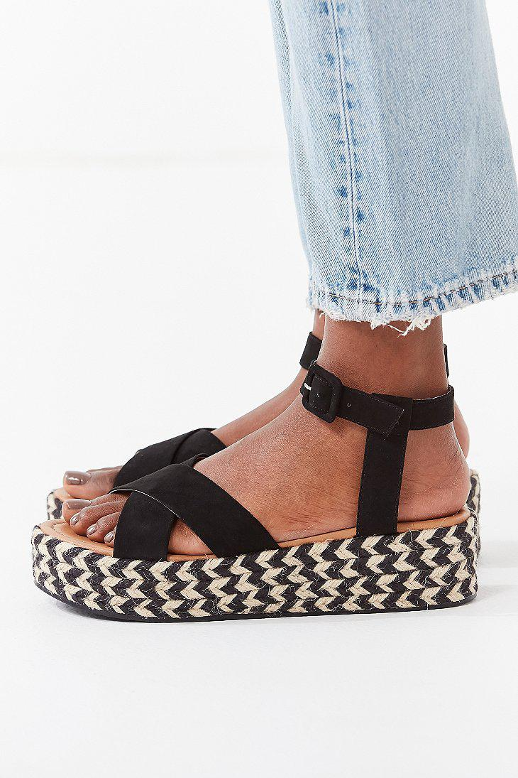 520d122e8ea Lyst - Urban Outfitters Cora Flatform Espadrille Sandal in Black
