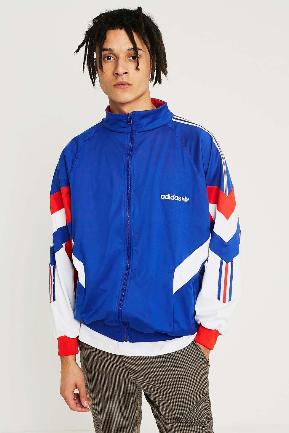 Adidas Track Top Gli Blu Aloxe Audace In Blu Per Gli Top Uomini Lyst 1a4d77
