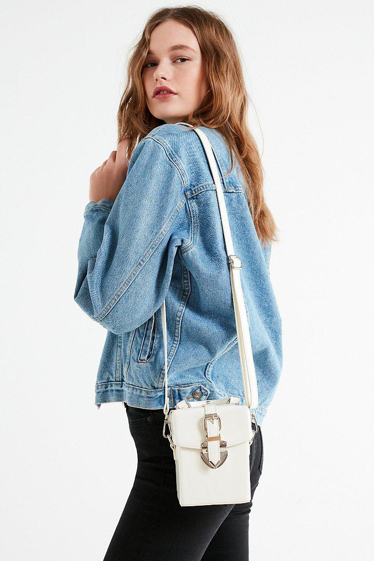 69e10d1cd1bb Lyst - Urban Outfitters Maud Structured Mini Crossbody Bag in White
