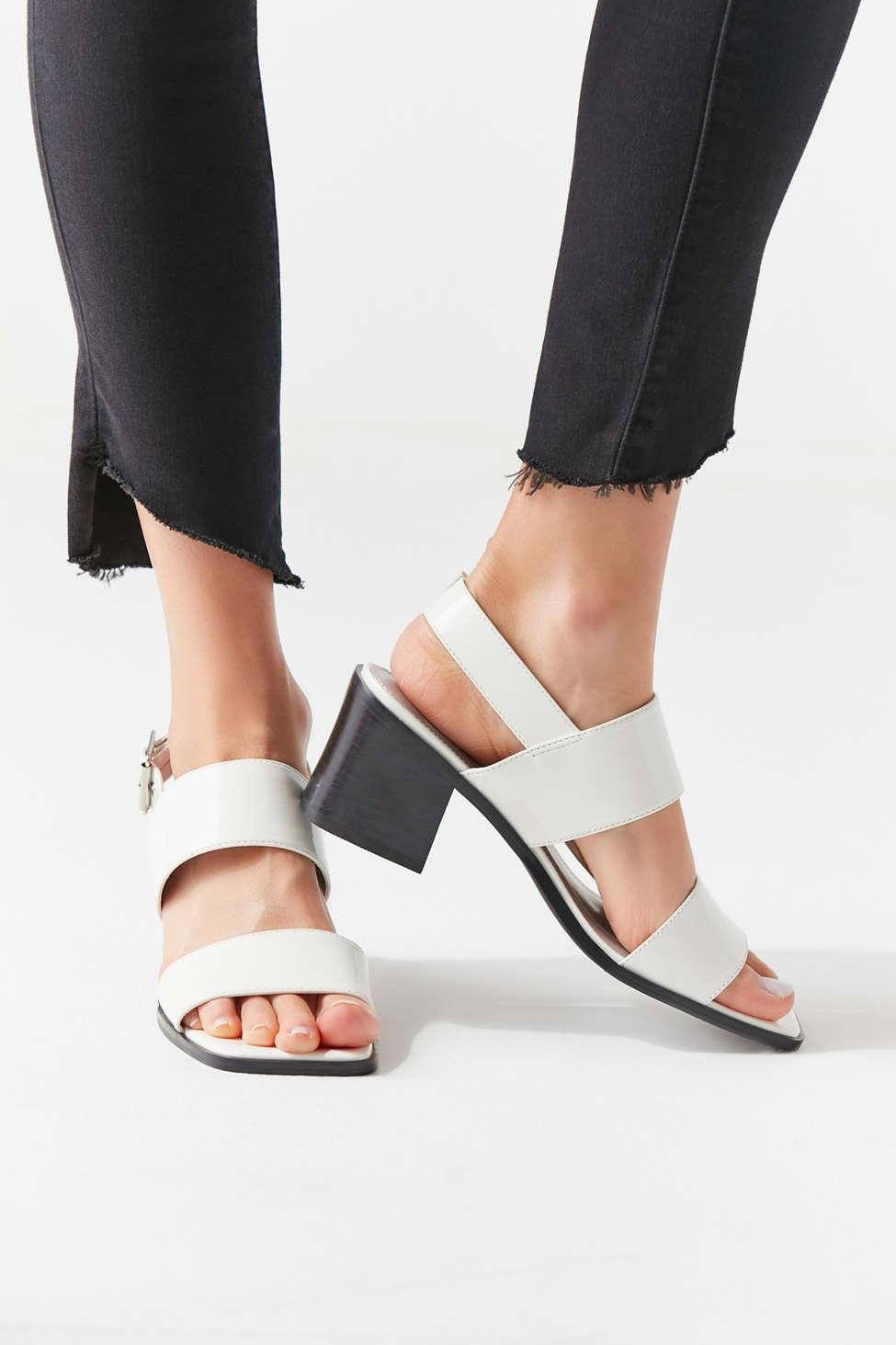 4cd256e8b90 Lyst - Urban Outfitters Uo Nicole Slingback Sandal in White