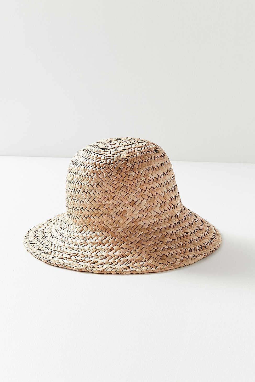 Lyst - Brixton Kennedy Straw Bucket Hat in Natural 200e0f27e2f