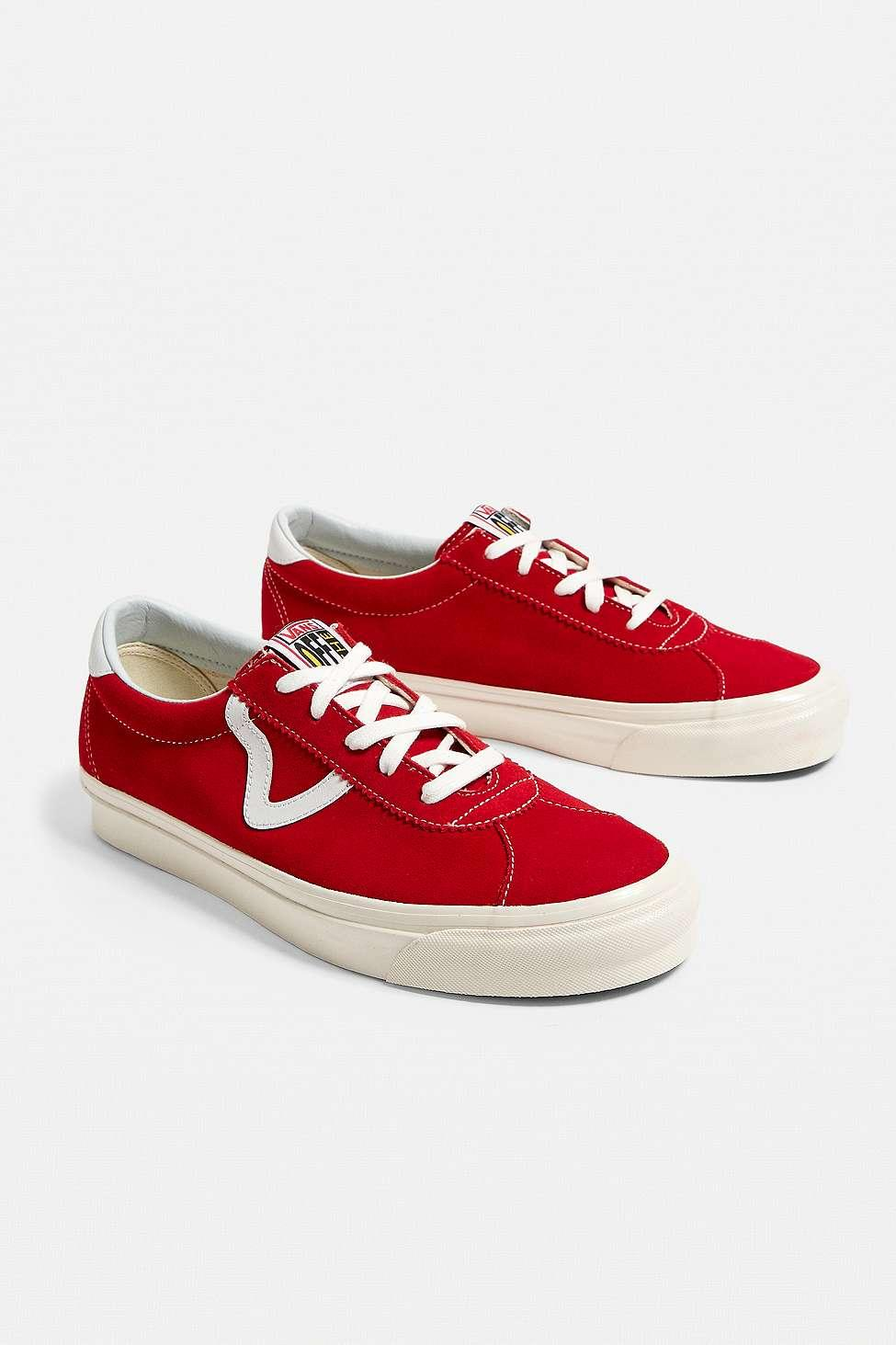 e4c92cf227 Vans Anaheim Factory Authentic Red Suede Trainers - Mens Uk 9 in Red ...