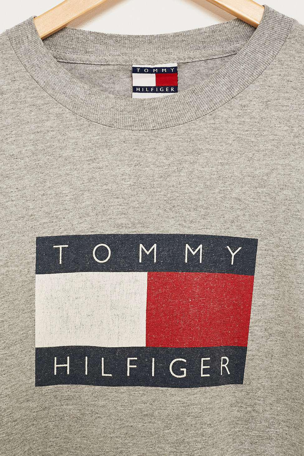 197be76e Urban Renewal Vintage One-of-a-kind Tommy Hilfiger Grey Long-sleeve ...