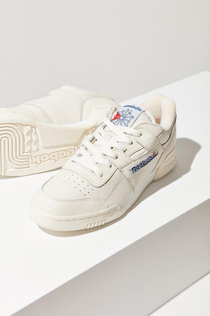 1a6838e12a3 Lyst - Reebok Workout Plus Vintage Sneaker in White
