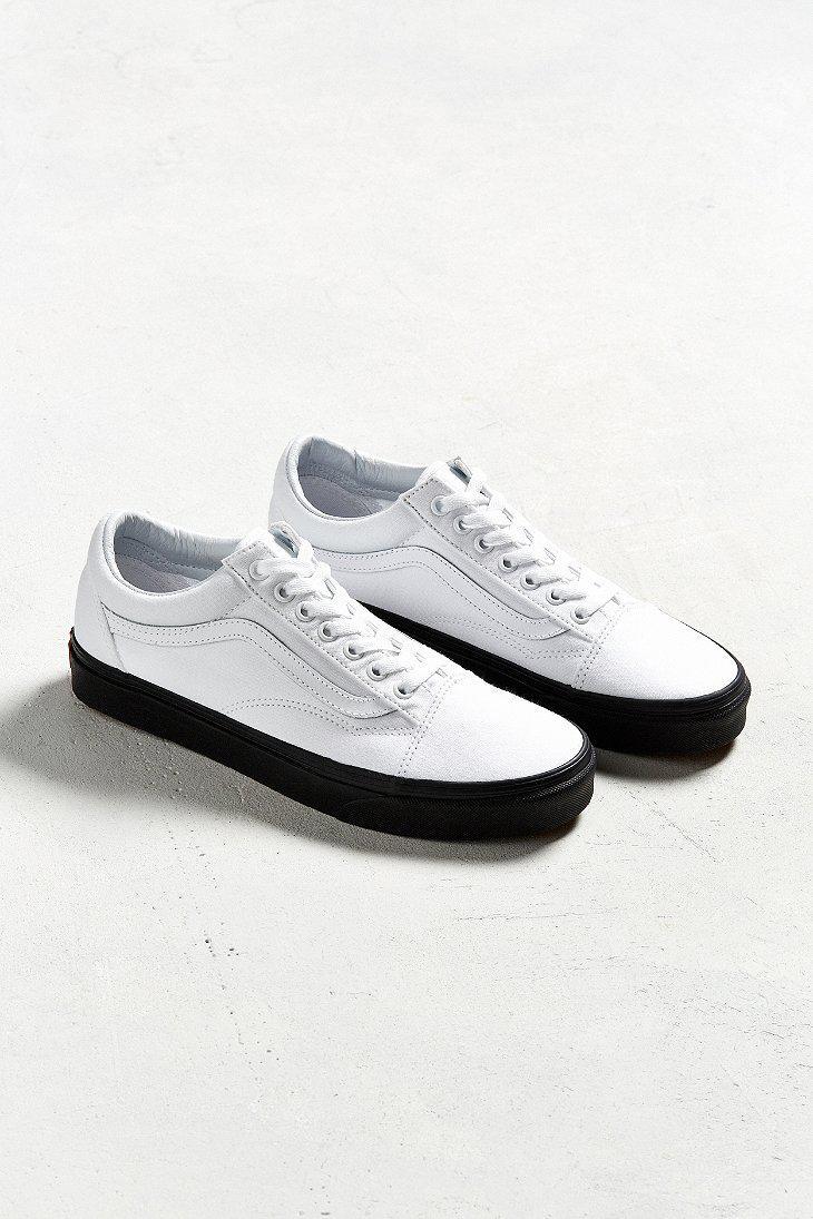 Vans Old Skool White Black Sole Sneaker In White