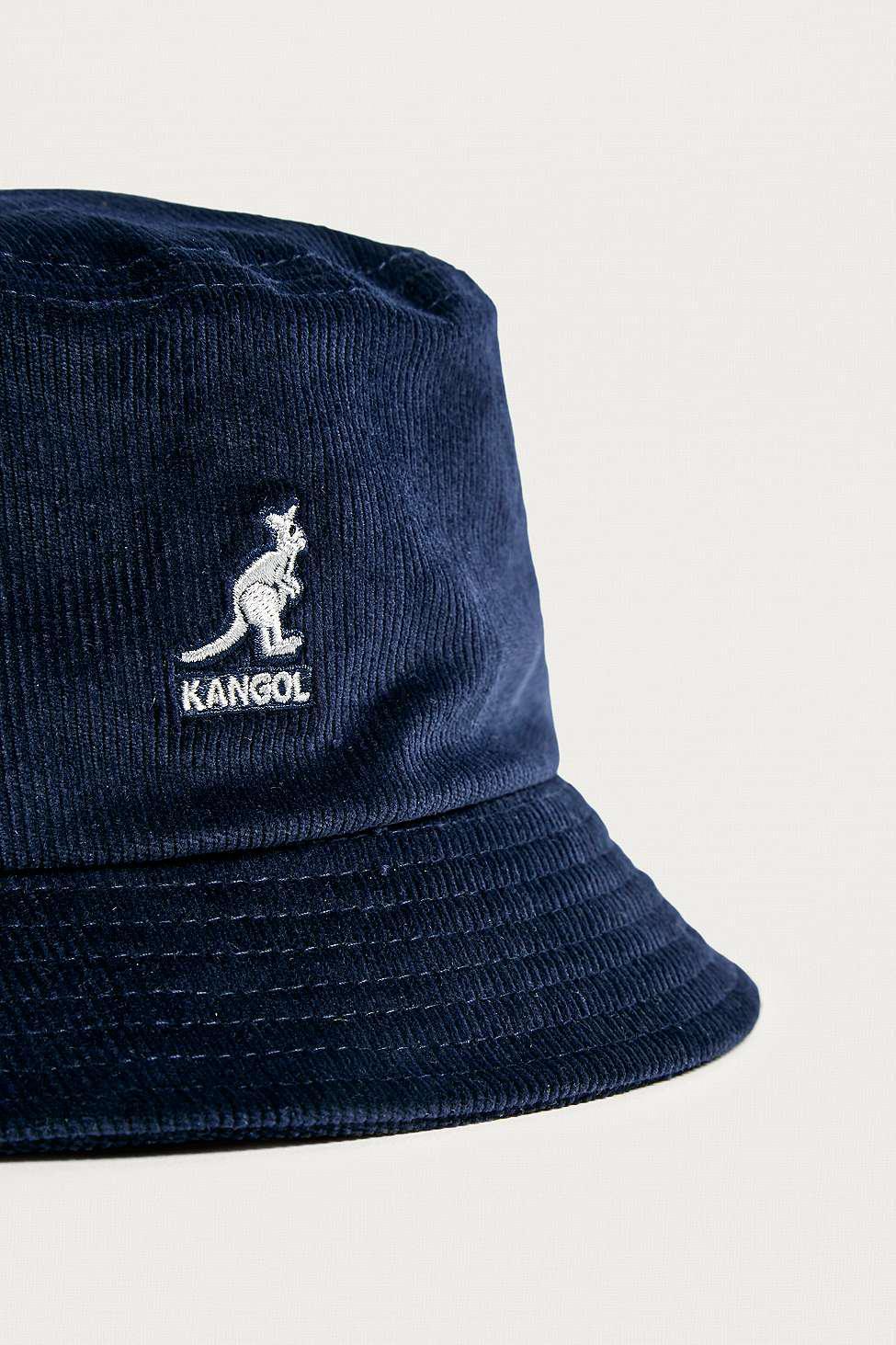 c8fbcc62 Kangol Navy Corduroy Bucket Hat - Mens L in Blue for Men - Lyst