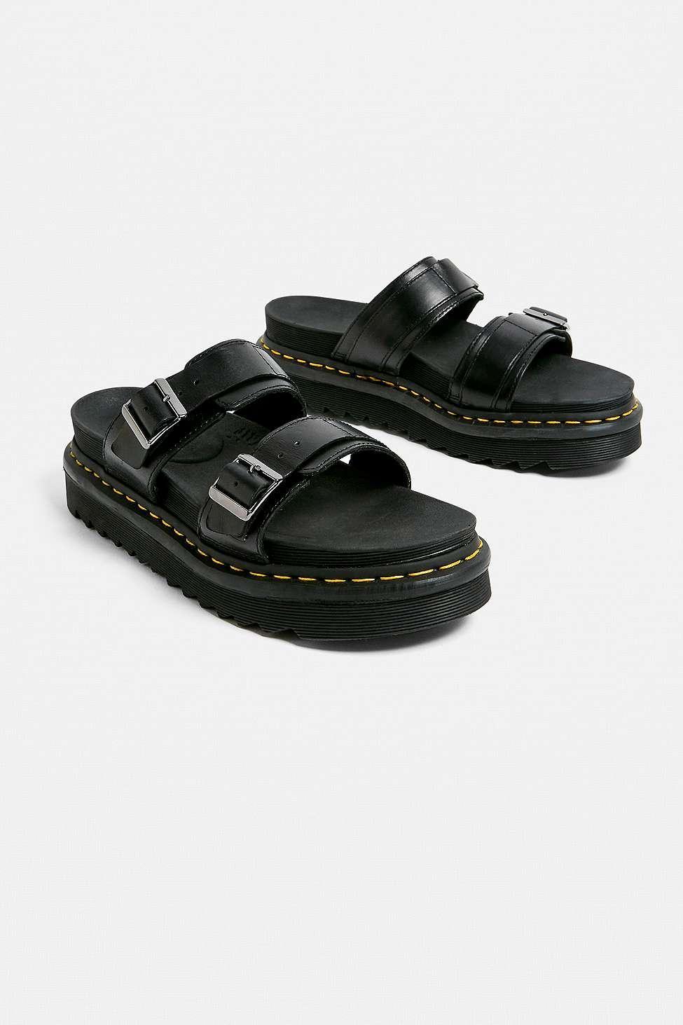 cf29aa3c2 Dr. Martens Myles Brando Black Sandals in Black for Men - Lyst
