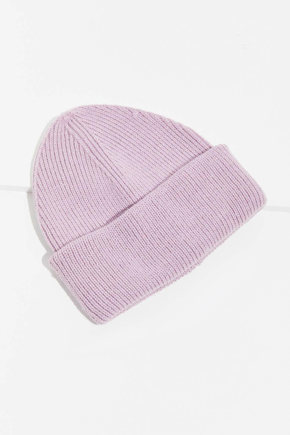96d067b673bf1 Lyst - Urban Outfitters Tall Basic Fisherman Beanie in Purple