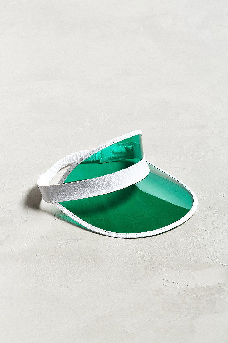 Lyst - Urban Outfitters Clear Brim Visor in Green for Men 5f6a5ace94b