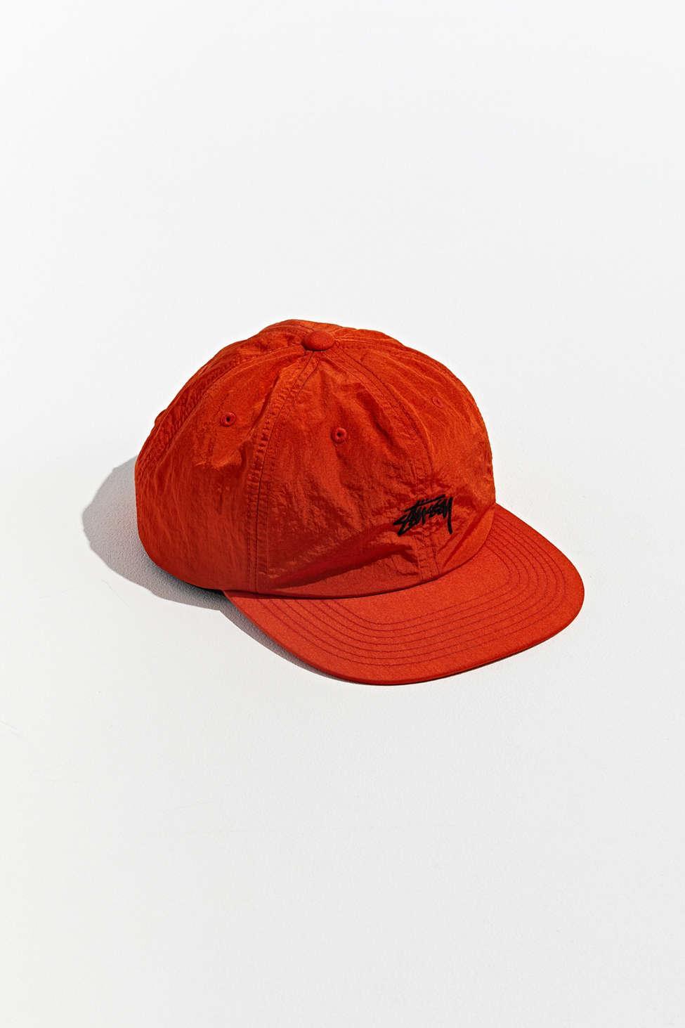 411d97c9ec1 Lyst - Stussy Stock Nylon Strapback Hat in Orange for Men