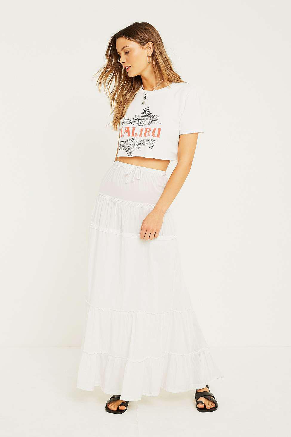 74d331090 Urban Renewal Vintage Remnants White Maxi Skirt - Womens S/m in ...
