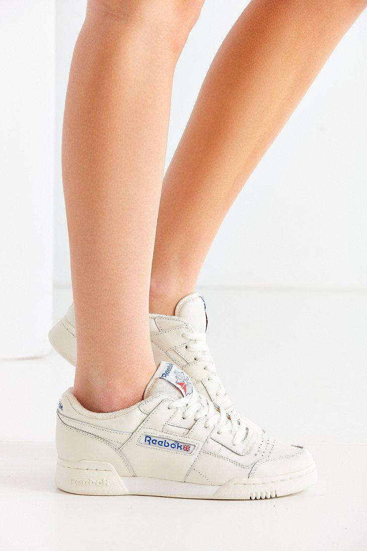 99c8770fded9 Lyst - Reebok Workout Plus Vintage Sneaker in White