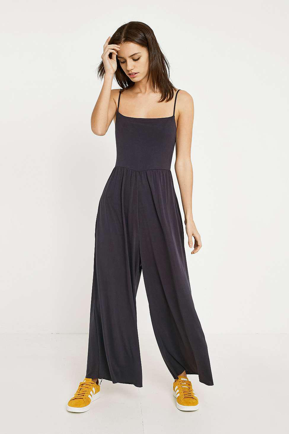 7cefc2f9f97 Urban Outfitters Uo Cupro Straight-neck Jumpsuit - Womens L in Black ...