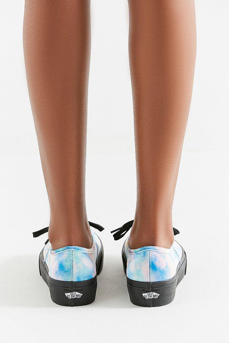 fa95fce5c829 Lyst - Vans Vans Authentic Platform Velvet Tie-dye Sneaker in Blue