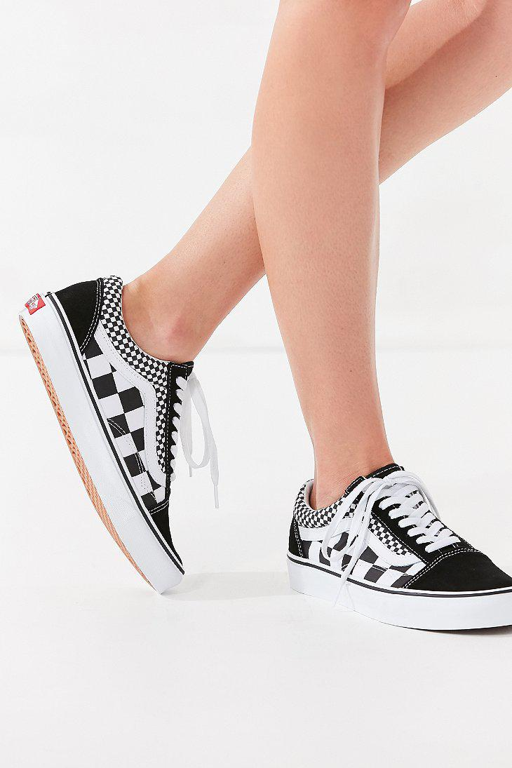 Lyst Vans Vans Mix Checkerboard Old Skool Sneaker In Black