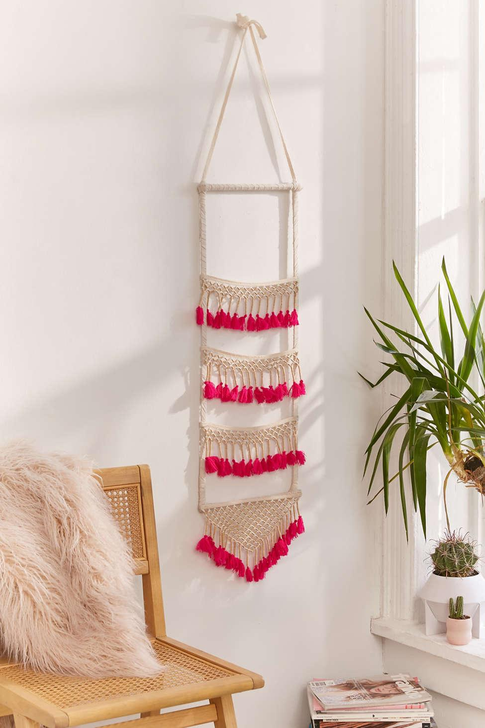 Lyst Urban Outfitters Neon Tassel Wall Hanging In White For Men