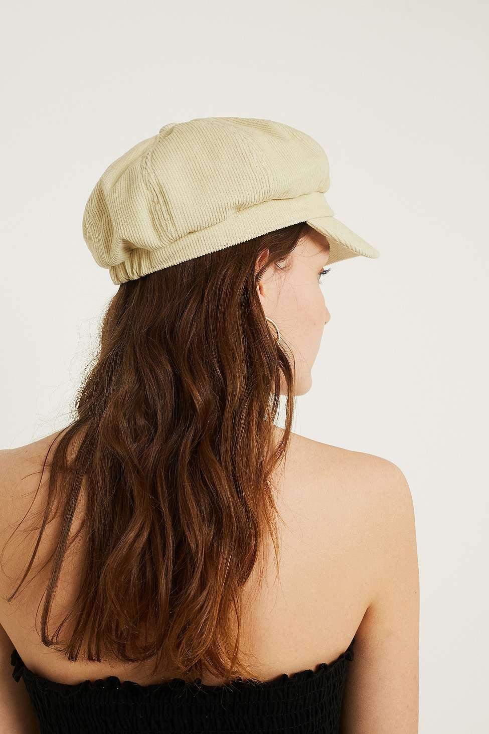 551335ba67e Urban Outfitters Corduroy Baker Boy Cap - Womens All in Natural - Lyst