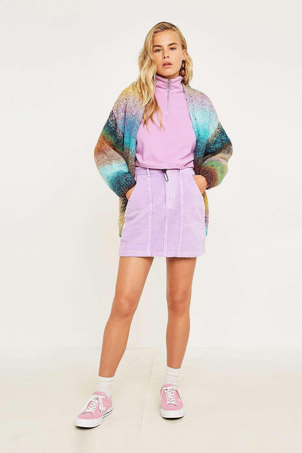 f3cbf1814e BDG Wide Wale Corduroy Utility Mini Skirt - Womens Xs in Purple - Lyst