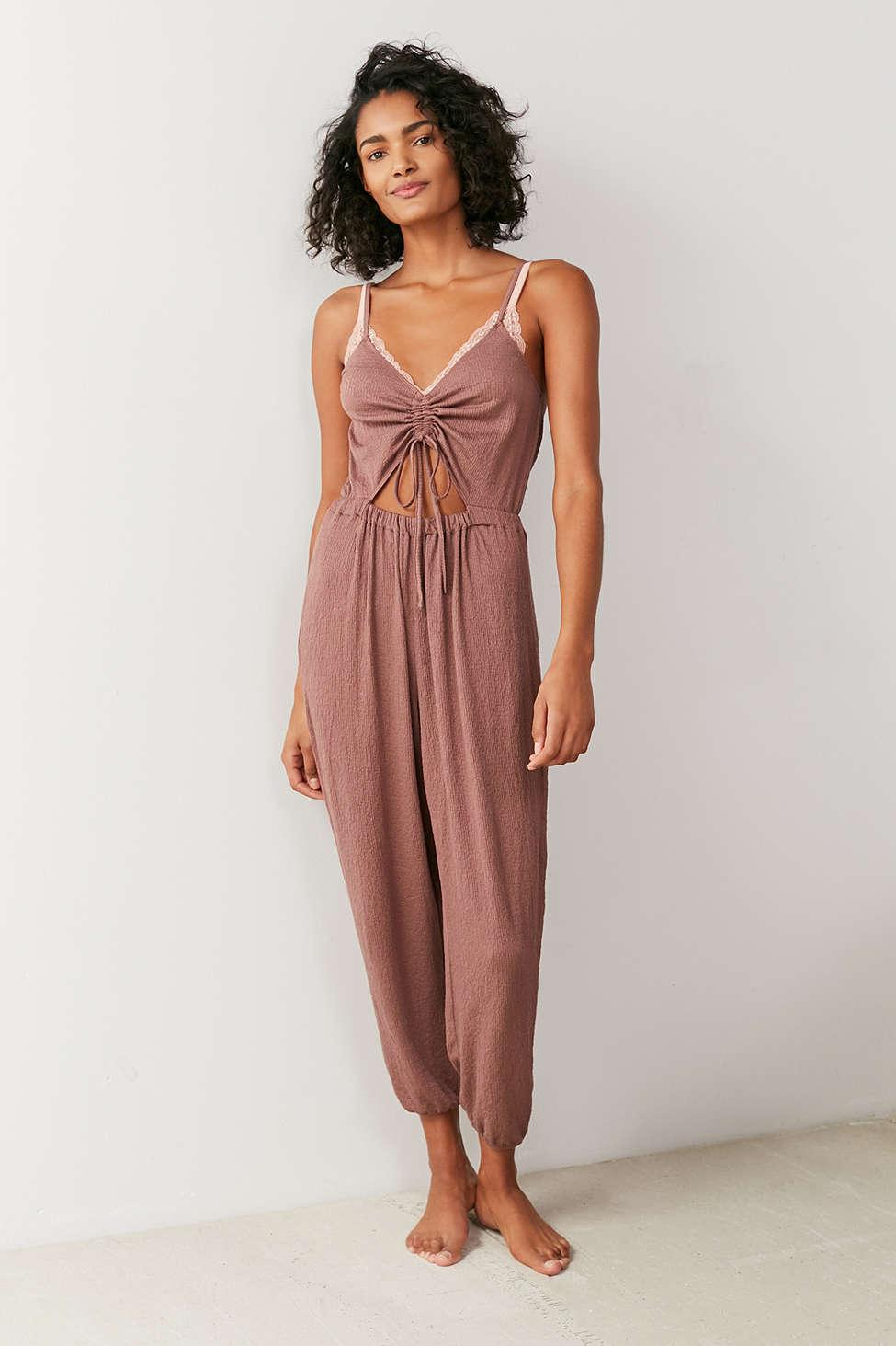 1d6e37b5aa84 Lyst - Out From Under Elsie Cinched Cutout Jumpsuit in Brown