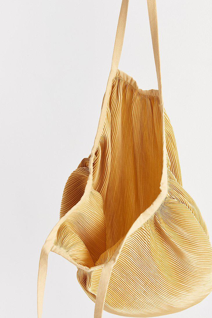 c56b0cd17a Lyst - Urban Outfitters Plisse Pleated Shopper Tote Bag in Brown