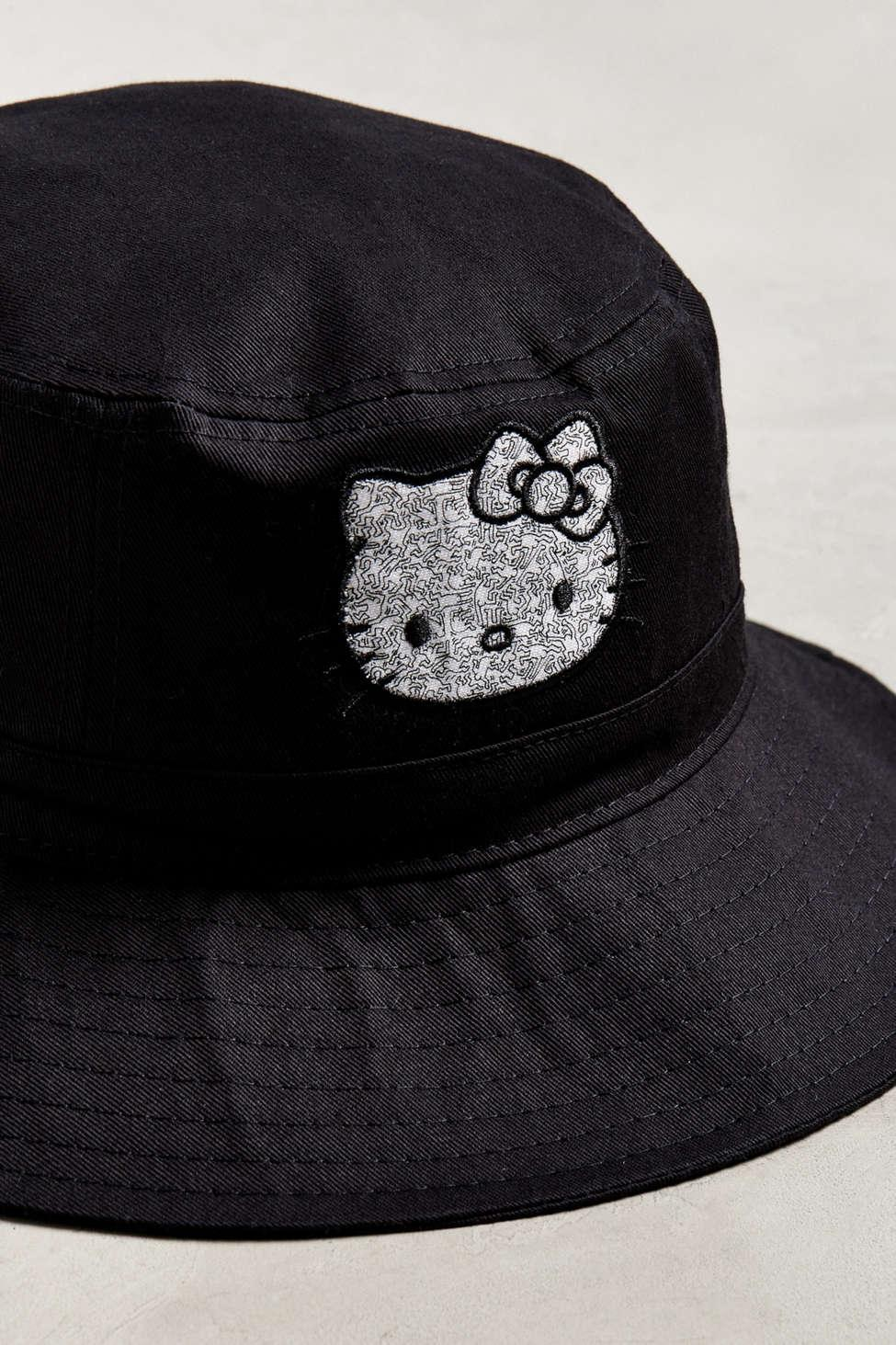 990494a6c Urban Outfitters Hello Kitty X Keith Haring Bucket Hat in Black for ...