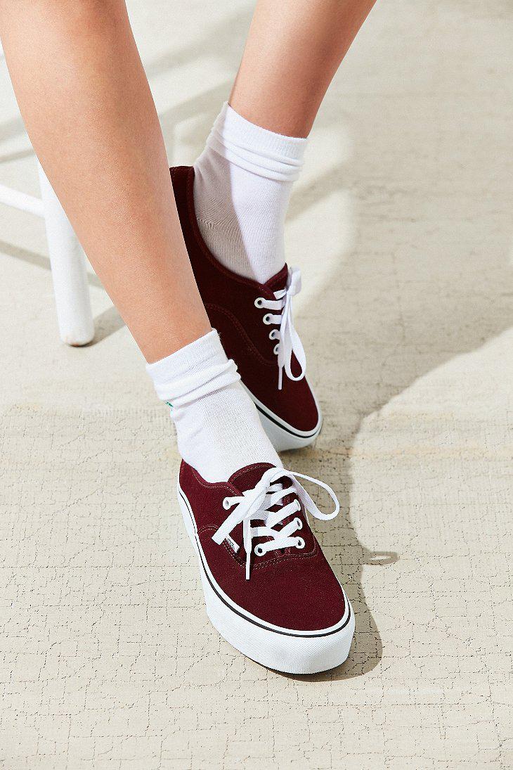 5f7567f851e7 Lyst - Vans Suede Authentic Platform 2.0 Sneaker