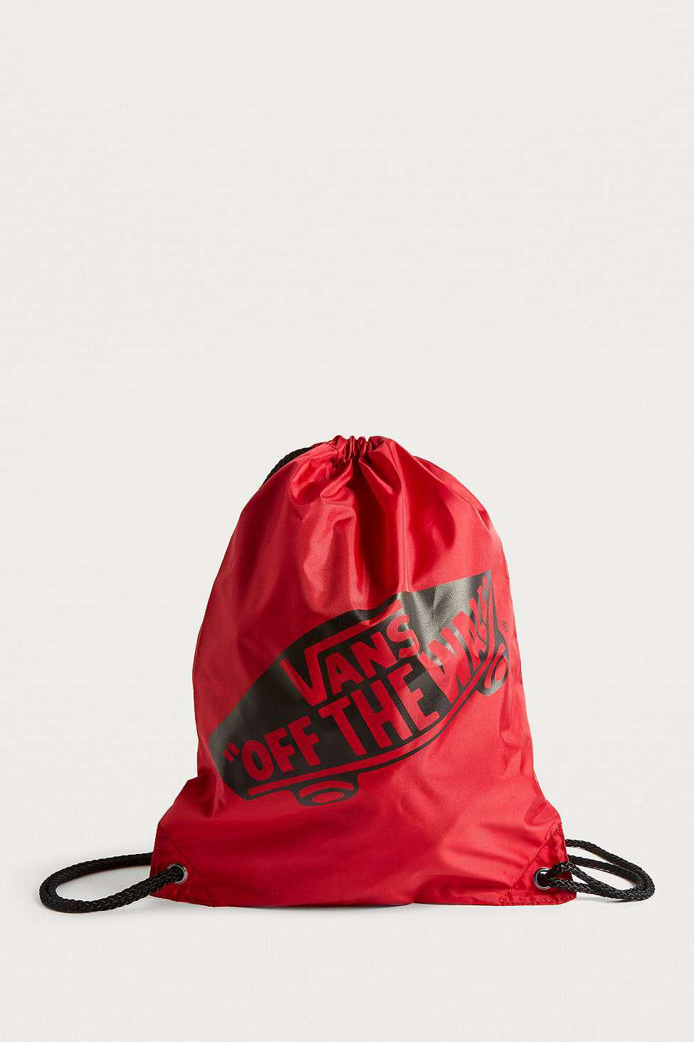 32d6d1b2b6 Vans Benched Drawstring Backpack - Womens All in Red - Lyst