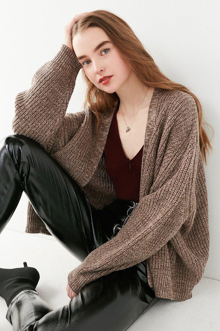 dcd3ae66420eb Urban Outfitters Uo Dolman Cardigan in Brown - Lyst
