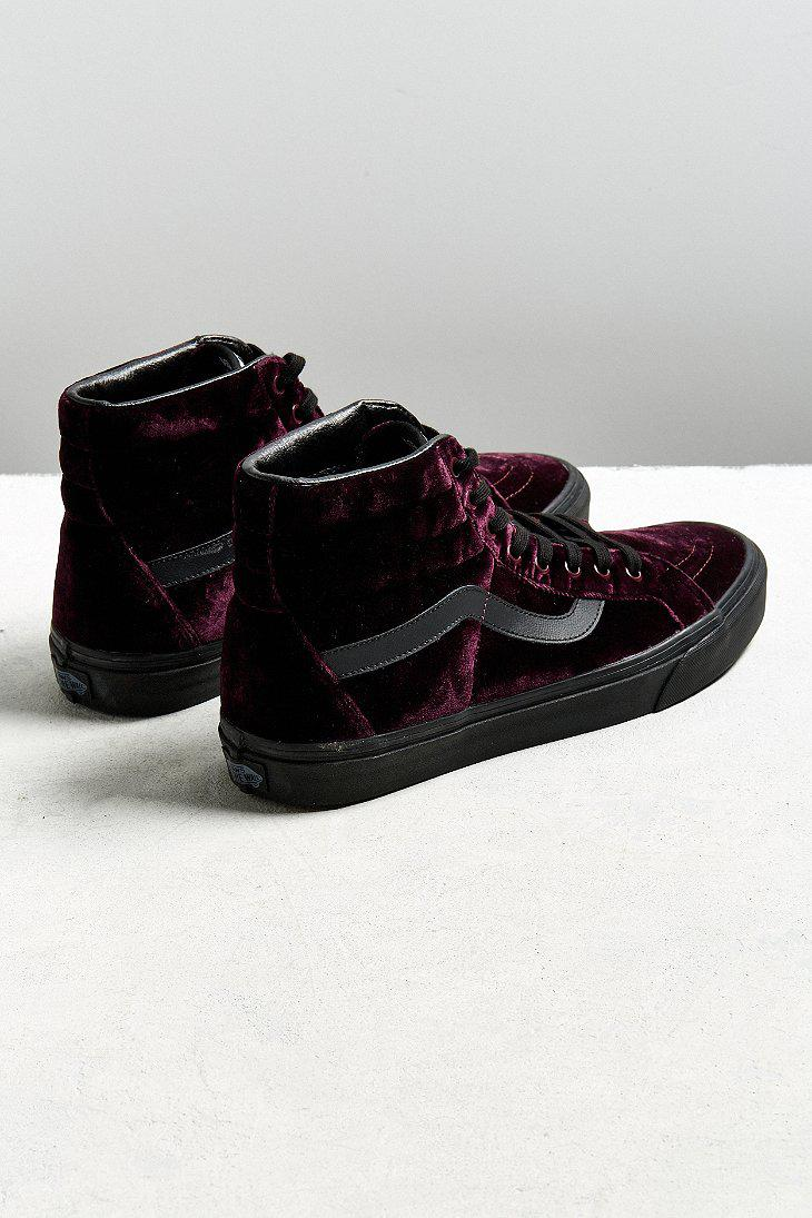 7c92e6a869e Lyst - Vans Vans Sk8-hi Reissue Burgundy Velvet Sneaker in Black for Men