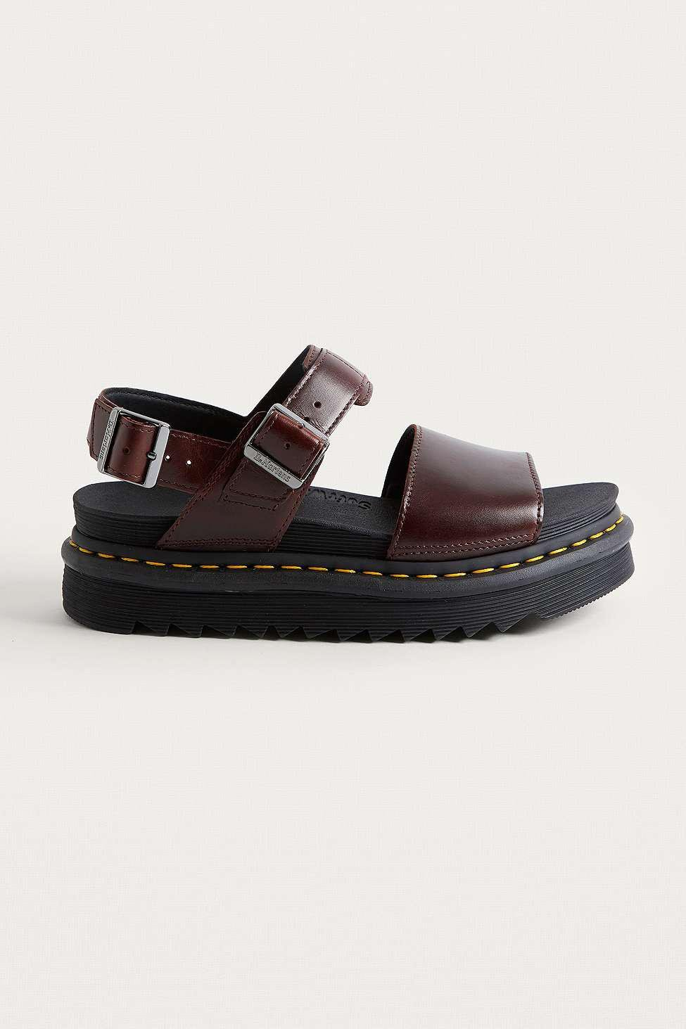 f029f8ea Dr. Martens Zebrilus Burgundy Sandals - Womens Uk 7 in Red - Lyst