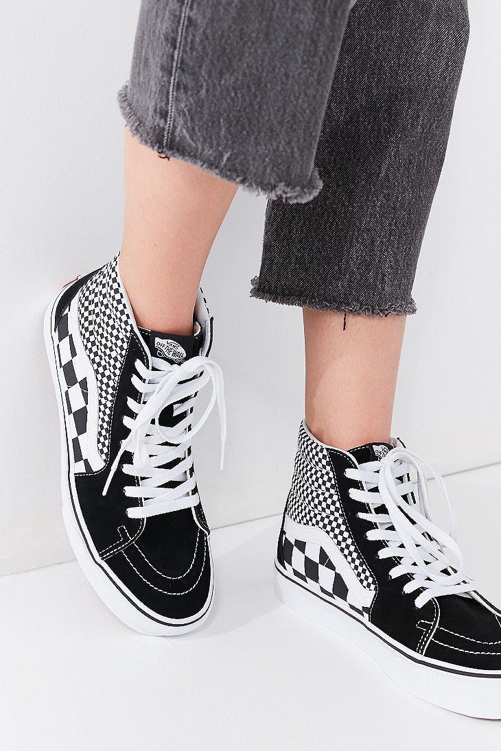 d05adf5472 Lyst - Vans Vans Mix Checkerboard Sk8-hi Sneaker in Black