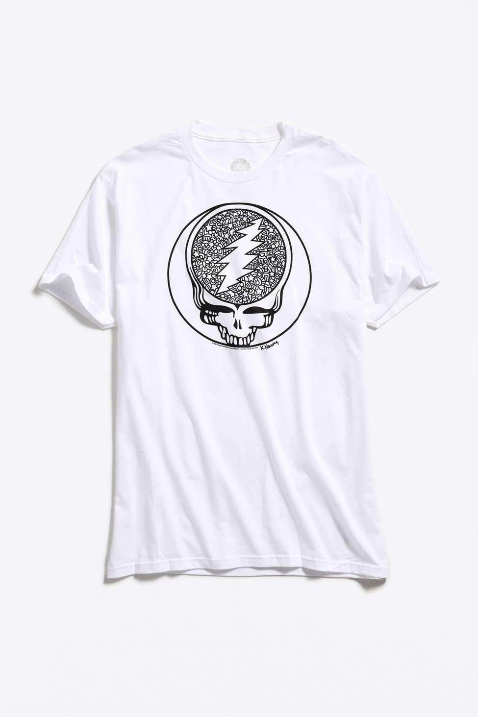 bce664ca Urban Outfitters Grateful Dead X Keith Haring Tee in White for Men ...
